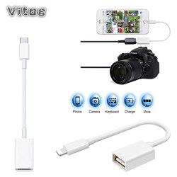 Convertidor de datos de cable OTG para iphone iPad conector de teclado cable USB convertidor de auriculares piano eléctrico para adaptador de iphone
