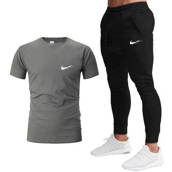 summer Breathable Men's Sport Suits Quick Dry Running sets Clothes Sports Joggers Training Gym Fitness Tracksuits 2-piece set men s compression sport suits quick dry running sets clothes gym joggers training fitness tracksuits running set
