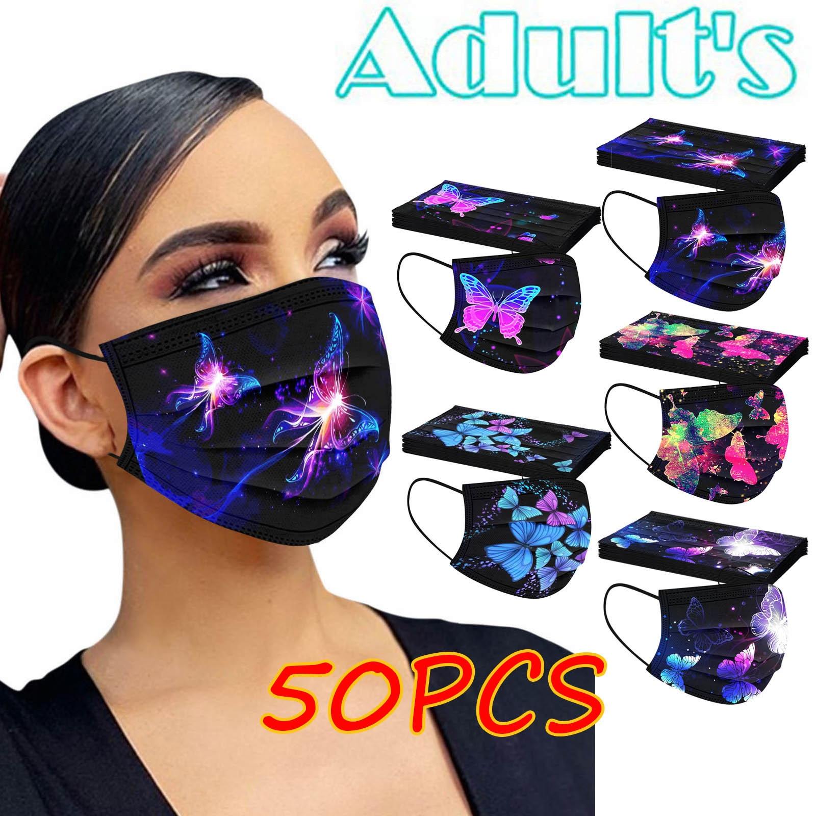 Adulto máscara de rosto descartável máscara de rosto novo estilo tecido máscara de três camadas adulto rímel tejida de novo estilo