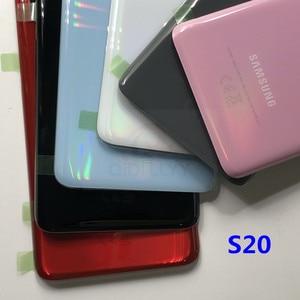 Image 5 - استبدال الزجاج الخلفي لسامسونج غالاكسي ، للموديلات S20 G980 F/DS S20 Plus S20 G985 F/DS ، جراب مقاوم للماء