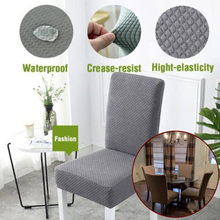 Chair Cover Stretch Elastic Dining Seat Dust Cover Chair Cover Waterproof Anti-dirty Restaurant Banquet Hotel Home Decor 19SEP19(China)