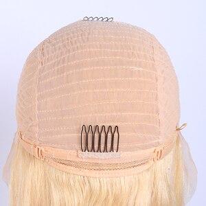 Image 4 - Бразильские Прямые 613 кружевные передние парики 150% Плотность 13x1 дюйм прямые медовые светлые кружевные передние человеческие волосы парики для женщин Jarin