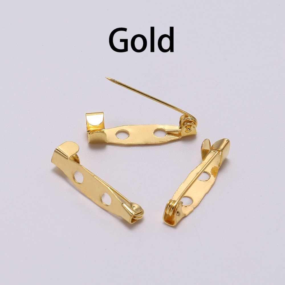 50 sztuk/partia 15 20 25 30 35 mm broszka klip baza Pins agrafki broszka ustawienia puste podstawy dla DIY tworzenia biżuterii dostaw