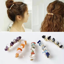 Japanese Fashion Retro Mori Pine Stone Hairpin Temperament Spring Clip Hairclips Styling Tools Hair Accessories(China)
