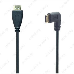 Image 5 - 0.5M 90 Degree Angle Mini HDMI To HDMI Male M/M Cable Connector V1.4 For DSLR Video Camera LCD Monitor