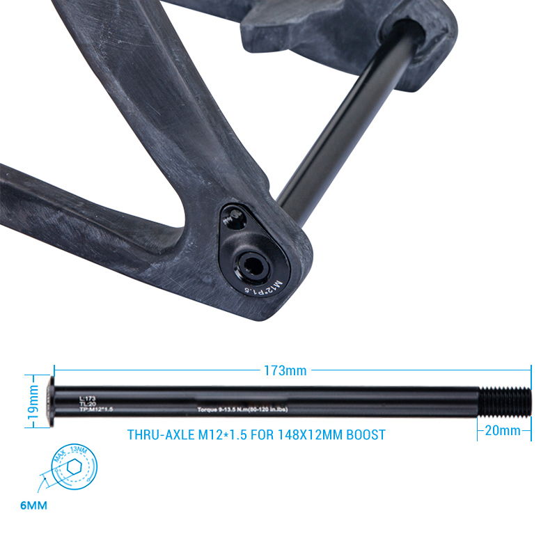 OG-EVKIN MTB Bike Front 15x110mm Rear 12x148mm Thru Axle Disc Brake Boost Skewer