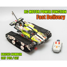 NEW RC Tracked Racer Technic Racing Car Fit Technic City Car Electric Motor Functions Building Block Bricks DIY Kid Toys Gift technic series 42065 radio controlled tracked racer set race car tank legoinglys building block brick toy technic lepin 20033