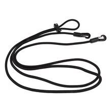 Лошадиные черные носилки для шеи эластичные лошадиные реиновые ремни веревки конные принадлежности 10 футов