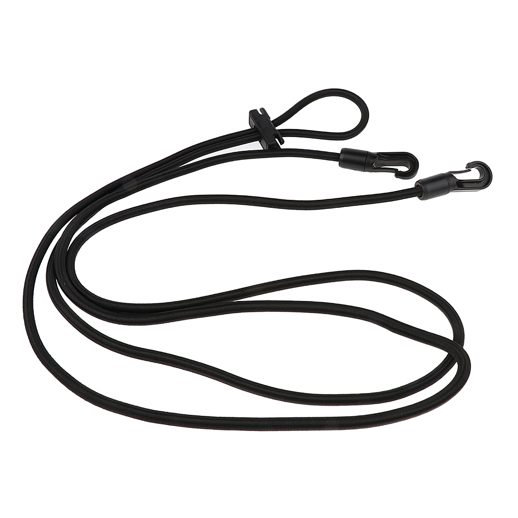 Horse Black Neck Stretcher Elastic Horse Rein Strap Rope Equestrian Supplies 10ft