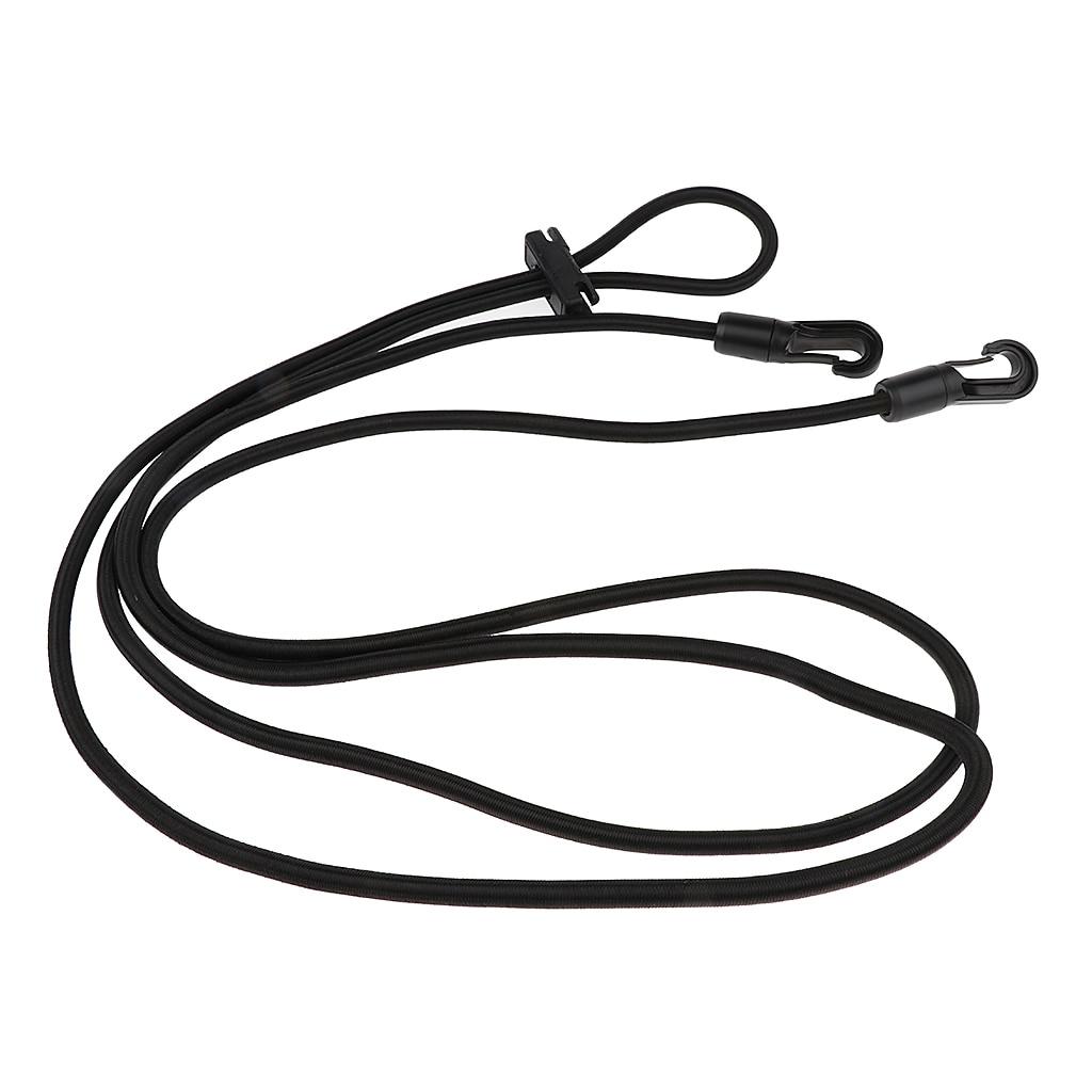 Horse Black Neck Stretcher Elastic Horse Rein Strap Rope Equestrian Supplies 10ft