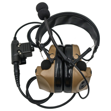 Tactical Comtac ii Airsoft Military Headset Pickup Noise Reduction Headphones Shooting Hunting Hearing Protection with U94 ptt