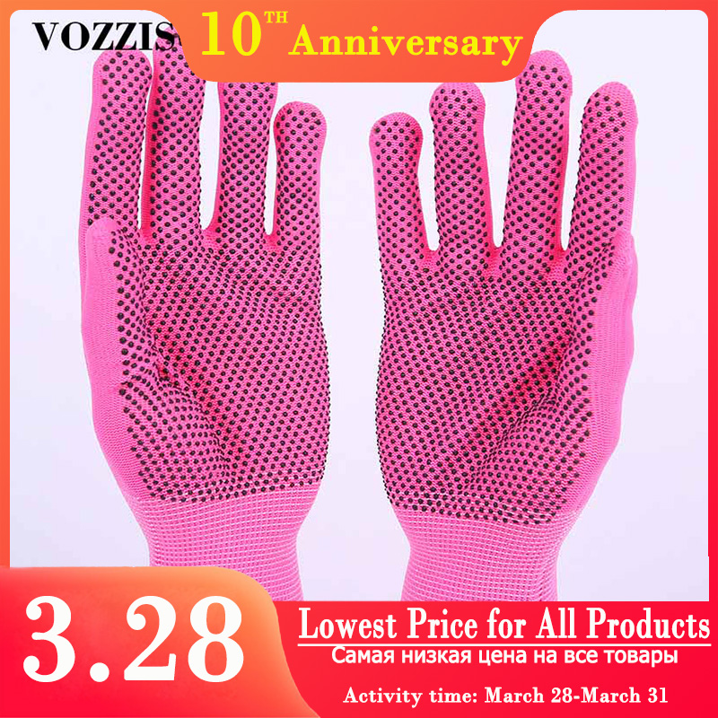 6 Pairs Garden Gloves Anti Slip Safety Gloves Nylon With Nitrile Coated Work Glove Safe For Rose Pruning Mittens Digging Gloves