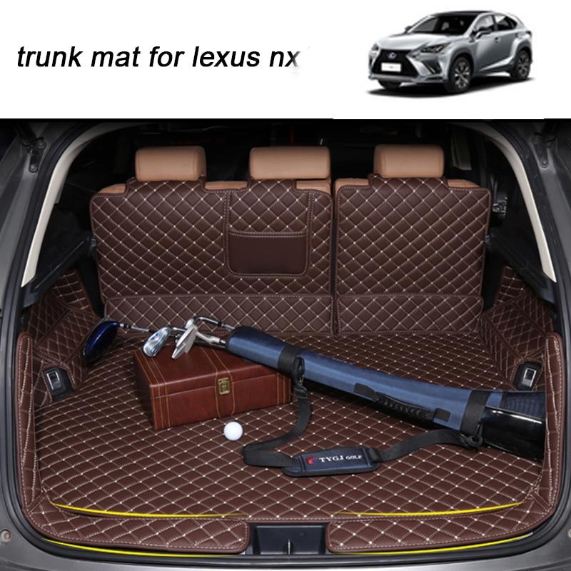 Lsrtw2017 para Lexus nx Nx200t Nx300h de coche de cuero Mat tronco de carga de 2014, 2015, 2016, 2017, 2018, 2019 alfombra equipaje