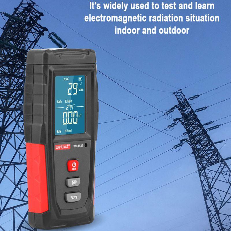 Wt3121 handheld medidor emf testador de radiação