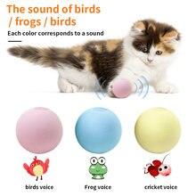 Pelota interactiva de Gato elegante para mascotas, juguete de Catnip para adiestramiento de gatos, suministros para mascotas, productos de sonido, 3 tipos