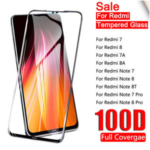 Tempered-Glass Protective-Film Screen-Protector Full-Cover Note-8t Xiaomi Redmi for 7-Pro
