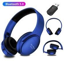 Moda Bluetooth 5.0 mikrofonlu kulaklık ile TV PC kablosuz iletim telefon müzik kask PS4 oyun desteği TF kart