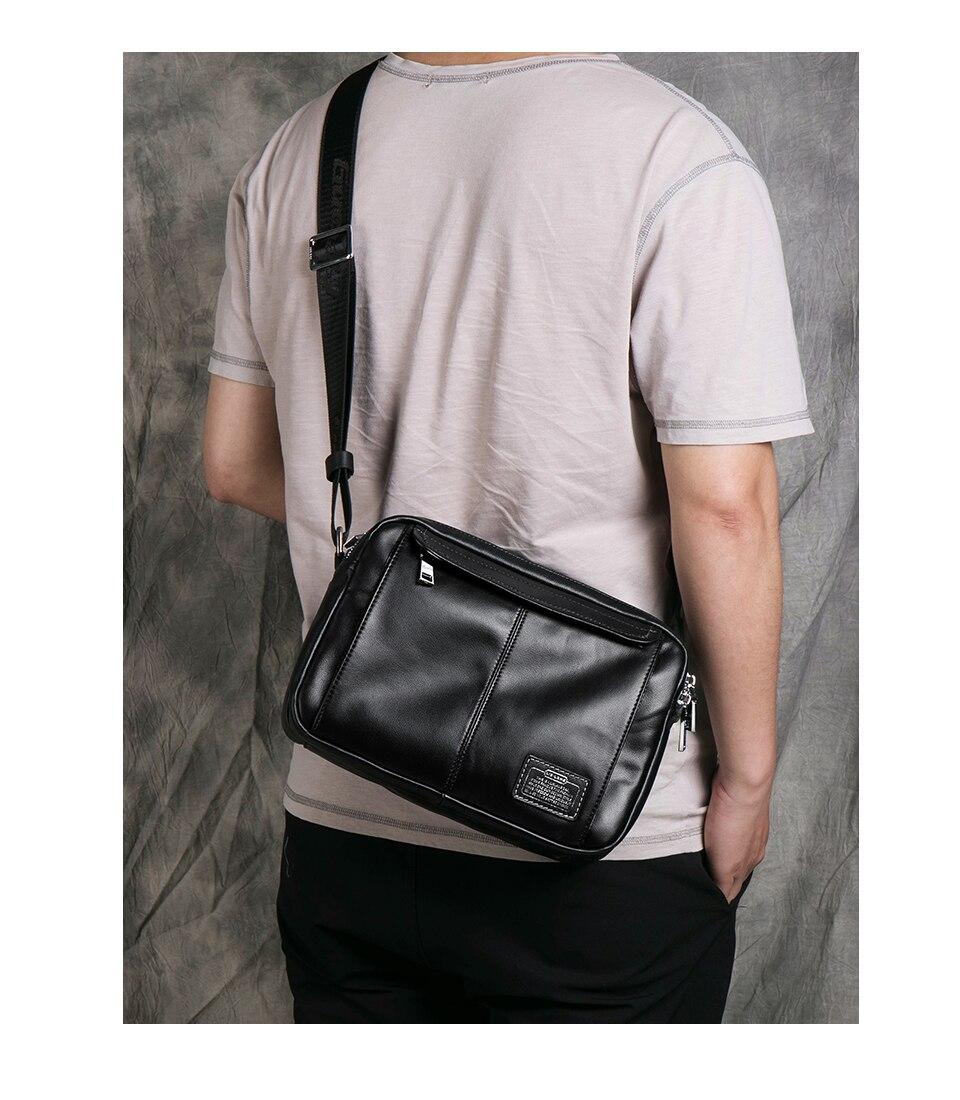 genuíno para homens bolsa de mensageiro preto