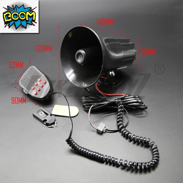 Vehicle Loud Speaker 6 Sound 100W Tones High Quality Multi-Tone Claxon Horns New