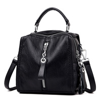 Women's leather handbag top quality 2020 new fashion black shoulder bag ZDG document bag