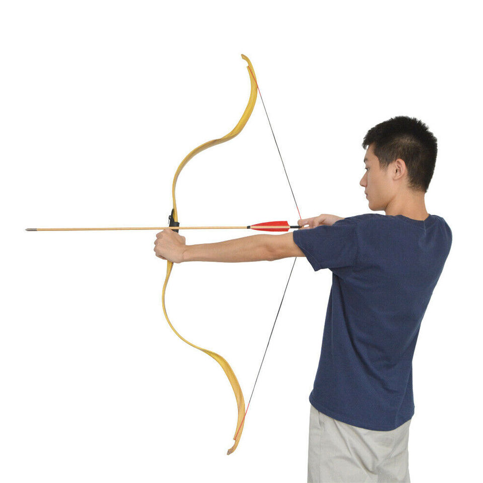 Traditional Recurve Bow Takedown 20lbs Wooden Handmade Archery Horse Bow Hunting