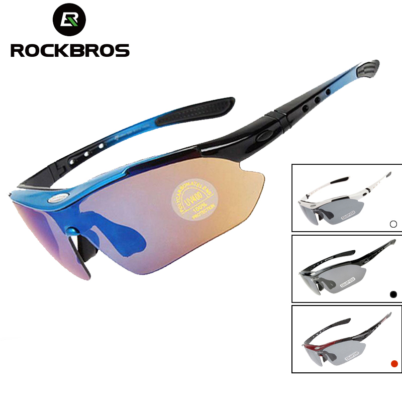 RockBros Cycling Fish Outdoor Glasses Polarized Sunglasses Black Red Goggles
