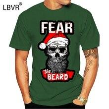 Fear The Beard Santa Skull Christmas Swimer Er Santa Santa Full Beard