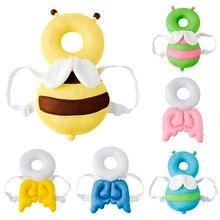 Защита головы для маленьких мальчиков и девочек, Регулируемые защитные подушечки, дизайн крыльев, плечевой протектор для детей от 4 до 24 месяцев