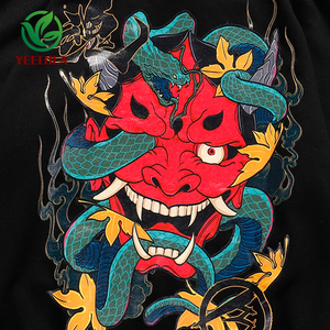 Image 3 - 2019 Hip Hop Hoodie Sweatshirt Mannen Casual Herfst Katoen Snake Print Devil Top Kwaliteit Harajuku Zwart Tops