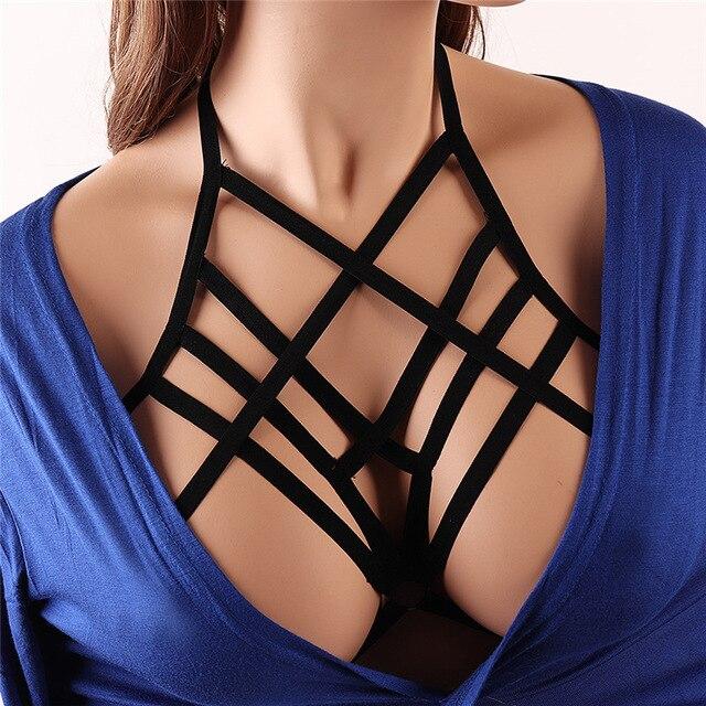 סקסי שחור גוף לרתום שעבוד שד מין צעצוע עבור Womern ארוטי הלבשה תחתונה חגורות אלסטיות רצועות חולצות בכלוב חזיות