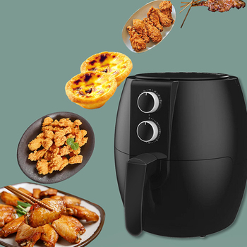 Air Fryer Home Use Electric Deep Fryers Oven Multifunction 1350W Large Capacity 4.5L No Soot French Fries Machine Bread Machine