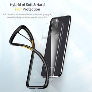 Image 4 - ROCK For 2019 iphone 11 iphone 11 pro max case Crystal Clear Phone protection soft + hard hybrid case for iphone 11 pro cover