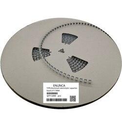 1000 piezas 6,3 V 16V 35V 50V 47uF 100uF 220uF 330uF 470uF condensador electrolítico de aluminio SMD 6,3*7,7mm 470uF 20%