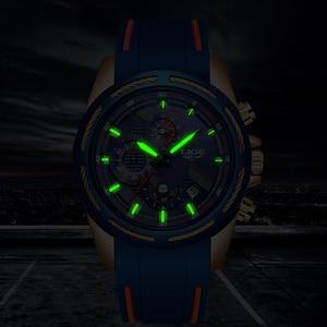 Image 4 - 2019 LIGE Mens Watches Top Brand Luxury Sport Chronograph Date Quartz Watch Men Silicone Strap Fashion Waterproof Watch Reloje