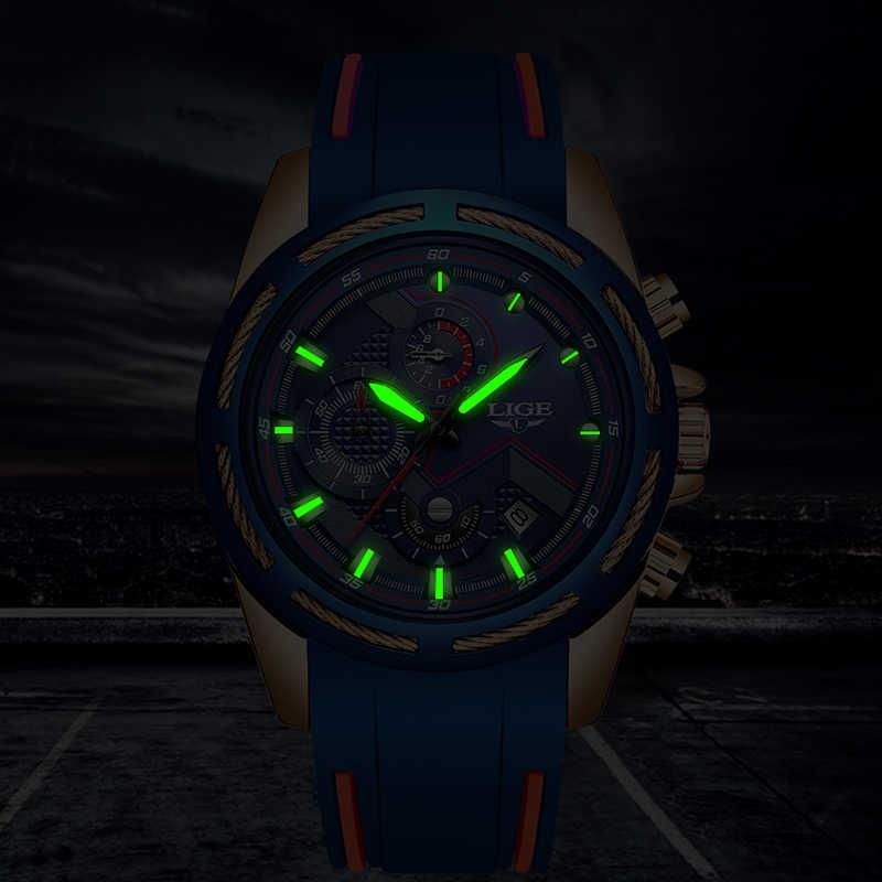 2019 en este momento relojes superior de la marca de lujo de deporte cronógrafo, fecha cuarzo reloj de los hombres correa de silicona de moda reloj impermeable Reloje