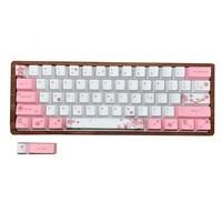 1 set 60% layout mechanical keyboard keycap for MX switches PBT dye sublimation Sakura Penguin key caps for GH60 GK61 Anne Keyboards     -