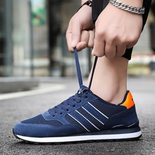 Spring Autumn Men Casual Shoes Fashion Sneakers Men Flock Breathable Lace-Up Non-slip Casual Zapatos De Hombre Outdoor Shoes fashion leather men casual shoes breathable men sneakers lightweight walking shoes outdoor non slip footwear zapatos de hombre