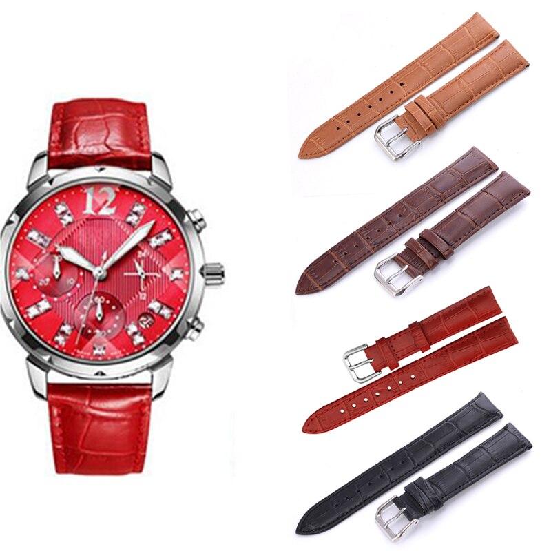 12/14/16/18/20/22mm Genuine Leather Watch Strap Band Belt Watchbands Watch Accessories