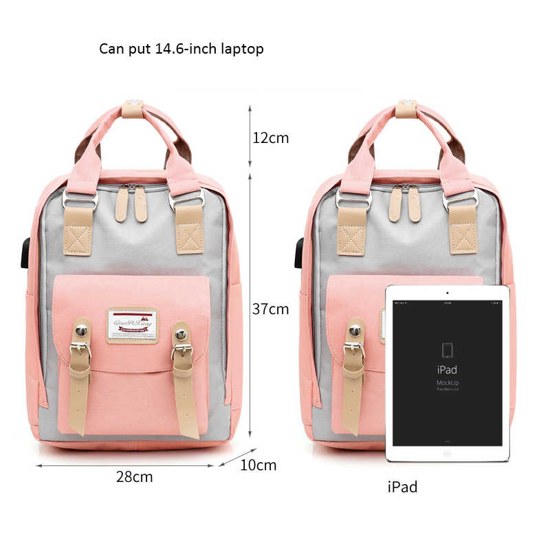 Fashion Patchwork Women Backpack Waterproof Backpack Bags For Women Travel Backpacks Teenagers Girls Large Capacity Bagpack