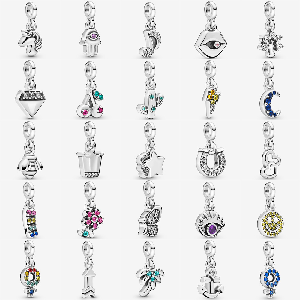 2020 Real 925 Sterling Silver My Smile Dangle Charm Fit pandora Me link bracelet My Nature My Loves Dangle Charm DIY Jewelry(China)
