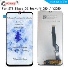 6.49 polegada para lâmina zte 20 inteligente v1050 v2050 display lcd e digitador da tela de toque sensor com montagem do quadro para lâmina 20 inteligente