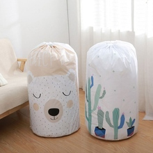 Home Large Dustproof Cute Cartoon Bag Organizer Storage Bag Clothes Packaging Toy Packing Bag Quilt Closet Luggage Bedding Bag
