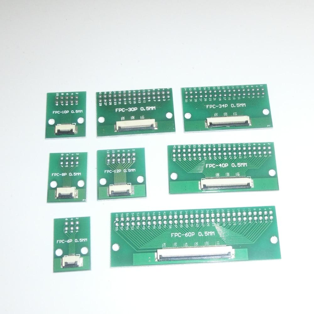 1 шт. плата адаптера FFC / FPC от 0,5 мм до 2,54 мм спаянный коннектор 6/12/24/40/50/60P