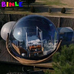 Igloo Dome Bubble-Tent Camping-Tent Inflatable 1tunnel 2rooms with Blower Couples Hotels