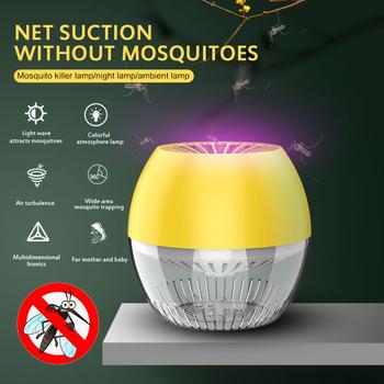 2020 Newset LED kryty fotokatalizator niemowlęta i niemowlęta pułapka przyciągają lampa odstraszająca komary Insect Zapper Mute Kill Pest Lamp tanie i dobre opinie oobest ------ HL245730 Brak black white yellow 13 5x13 5x13 5cm 1pcs Dropshipping Wholesale