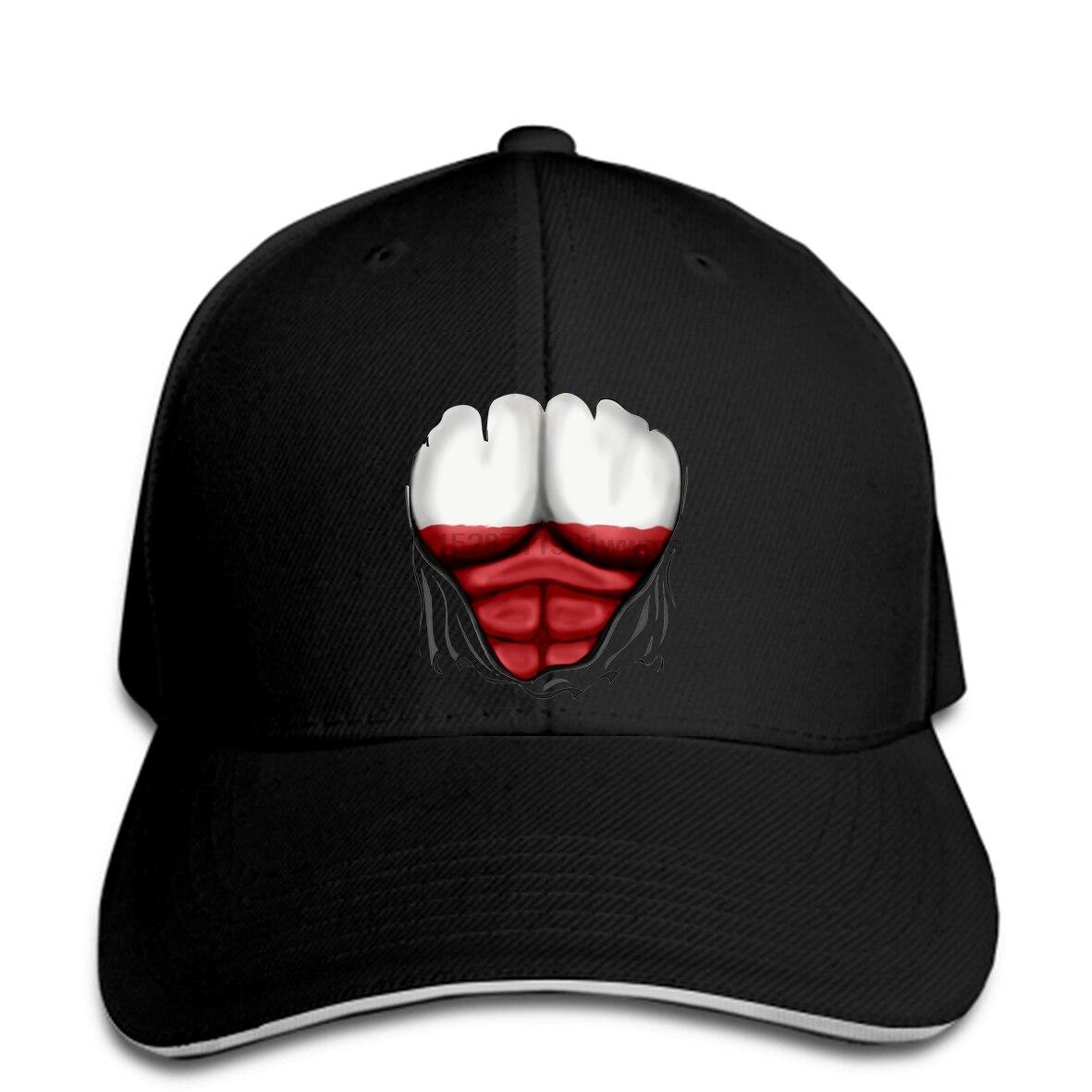 Симпатичный флаг Польши рваные мышцы брендовая Черная Мужская Снэпбэк Кепка Али с козырьком