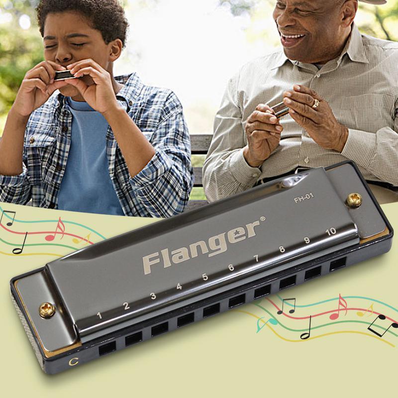 Full scale blues harmonica standard beginner professional full 10 hole 20 tone C