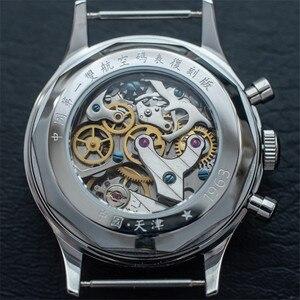Image 5 - Classic Sapphire Glass 1963 Chronograph Men Pilot Watch Mechanical Hand Wind Movement ST1901 Mens Aviator Watches SEAKOSS 38 40