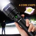 SHENYU Мощный тактический XHP50 светодиодный фонарь с зарядкой от USB  водонепроницаемый фонарь  супер яркий фонарь