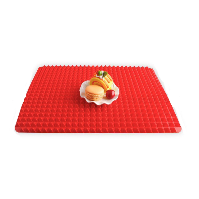 BBQ Pyramid Pan Bakeware Nonstick Silicone Baking Mats Pad Moulds Microwave Oven Baking Tray Sheet Baking Tools